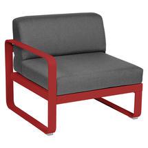 Bellevie 1 Seater Left Module - Poppy/Graphite Grey