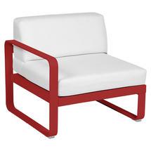Bellevie 1 Seater Left Module - Poppy/Off White