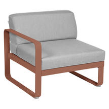 Bellevie 1 Seater Left Module - Red Ochre/Flannel Grey