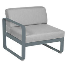 Bellevie 1 Seater Left Module - Storm Grey/Flannel Grey