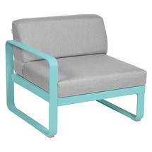 Bellevie 1 Seater Left Module - Lagoon Blue/Flannel Grey