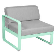 Bellevie 1 Seater Left Module - Opaline Green/Flannel Grey
