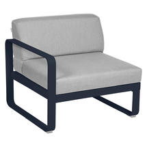 Bellevie 1 Seater Left Module - Deep Blue/Flannel Grey