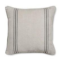 French Style Linen Black Stripe Large Cushion