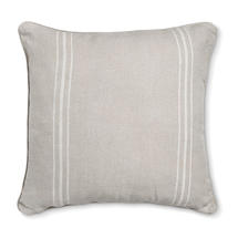 French Style White Stripe Large Cushion