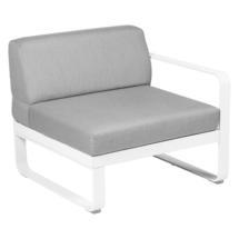Bellevie 1 Seater Right Module - Cotton White/Graphite Grey