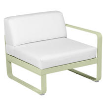 Bellevie 1 Seater Right Module - Willow Green/Off White