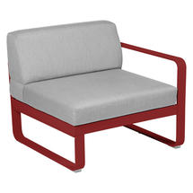 Bellevie 1 Seater Right Module - Poppy/Flannel Grey