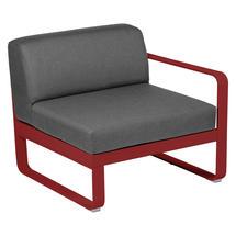 Bellevie 1 Seater Right Module - Poppy/Graphite Grey