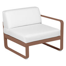 Bellevie 1 Seater Right Module - Red Ochre/Off White