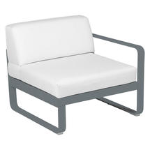 Bellevie 1 Seater Right Module - Storm Grey/Off White