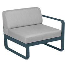 Bellevie 1 Seater Right Module - Acapulco Blue/Flannel Grey