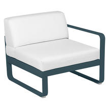 Bellevie 1 Seater Right Module - Acapulco Blue/Off White