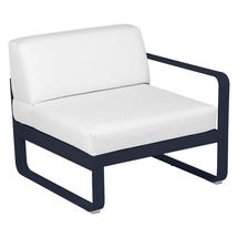 Bellevie 1 Seater Right Module - Deep Blue/Off White