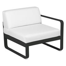Bellevie 1 Seater Right Module - Liquorice/Off White