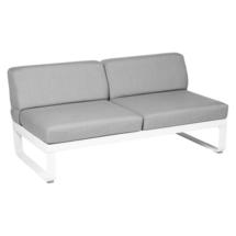 Bellevie 2 Seater Central Module - Cotton White/Flannel Grey