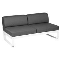 Bellevie 2 Seater Central Module - Cotton White/Graphite Grey