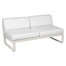 Bellevie 2 Seater Central Module - Clay Grey/Off White