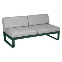 Bellevie 2 Seater Central Module - Cedar Green/Flannel Grey