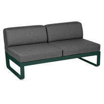 Bellevie 2 Seater Central Module - Cedar Green/Graphite Grey