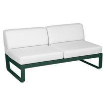 Bellevie 2 Seater Central Module - Cedar Green/Off White