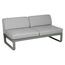 Bellevie 2 Seater Central Module - Rosemary/Flannel Grey