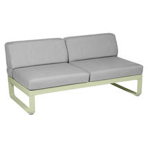Bellevie 2 Seater Central Module - Willow Green/Flannel Grey