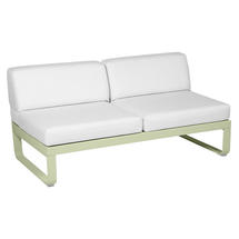 Bellevie 2 Seater Central Module - Willow Green/Off White