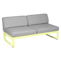 Bellevie 2 Seater Central Module - Frosted Lemon/Flannel Grey