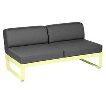 Bellevie 2 Seater Central Module - Frosted Lemon/Graphite Grey