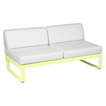 Bellevie 2 Seater Central Module - Frosted Lemon/Off White