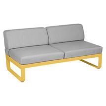 Bellevie 2 Seater Central Module - Honey/Flannel Grey