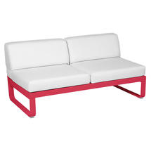 Bellevie 2 Seater Central Module - Pink Praline/Off White