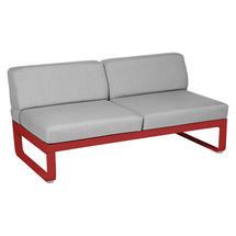 Bellevie 2 Seater Central Module - Poppy/Flannel Grey