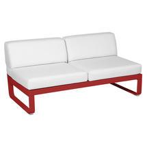 Bellevie 2 Seater Central Module - Poppy/Off White
