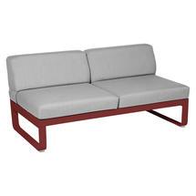 Bellevie 2 Seater Central Module - Chilli/Flannel Grey
