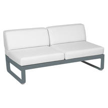 Bellevie 2 Seater Central Module - Storm Grey/Off White