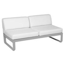 Bellevie 2 Seater Central Module - Steel Grey/Off White
