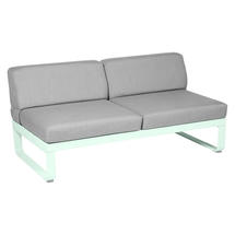 Bellevie 2 Seater Central Module - Ice Mint/Flannel Grey
