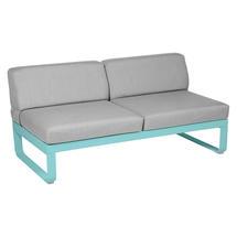 Bellevie 2 Seater Central Module - Lagoon Blue/Flannel Grey