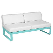 Bellevie 2 Seater Central Module - Lagoon Blue/Off White