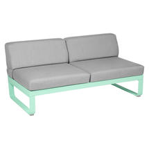 Bellevie 2 Seater Central Module - Opaline Green/Flannel Grey