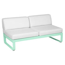 Bellevie 2 Seater Central Module - Opaline Green/Off White