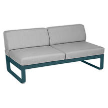 Bellevie 2 Seater Central Module - Acapulco Blue/Flannel Grey