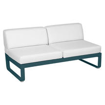 Bellevie 2 Seater Central Module - Acapulco Blue/Off White
