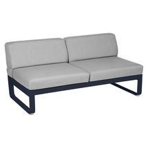 Bellevie 2 Seater Central Module - Deep Blue/Flannel Grey