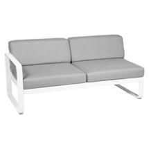Bellevie 2 Seater Left Module - Cotton White/Flannel Grey