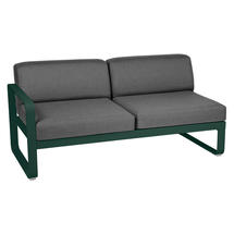 Bellevie 2 Seater Left Module - Cedar Green/Graphite Grey