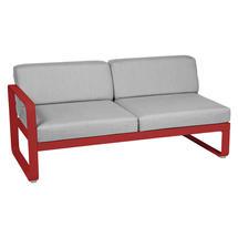 Bellevie 2 Seater Left Module - Poppy/Flannel Grey