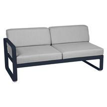 Bellevie 2 Seater Left Module - Deep Blue/Flannel Grey